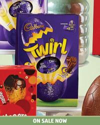 Large Cadbury Twirl Easter Egg 262g - £1.99 @ Aldi