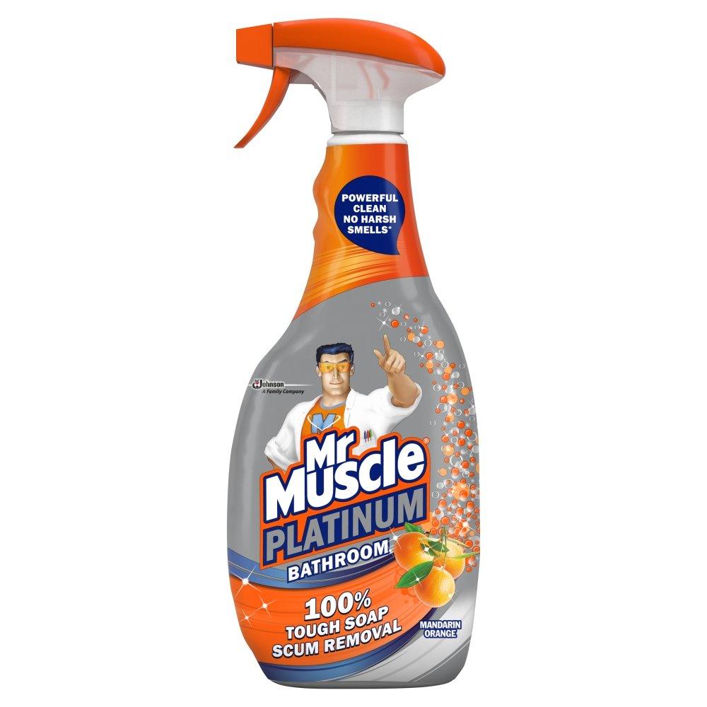 Mr Muscle Platinum Mandarin Orange Bathroom Spray 750ml - £1.75 + £5 Delivery @ Wilko