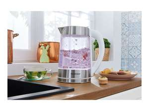 Silvercrest Colour-Changing Glass Kettle - £19.99 at LIDL