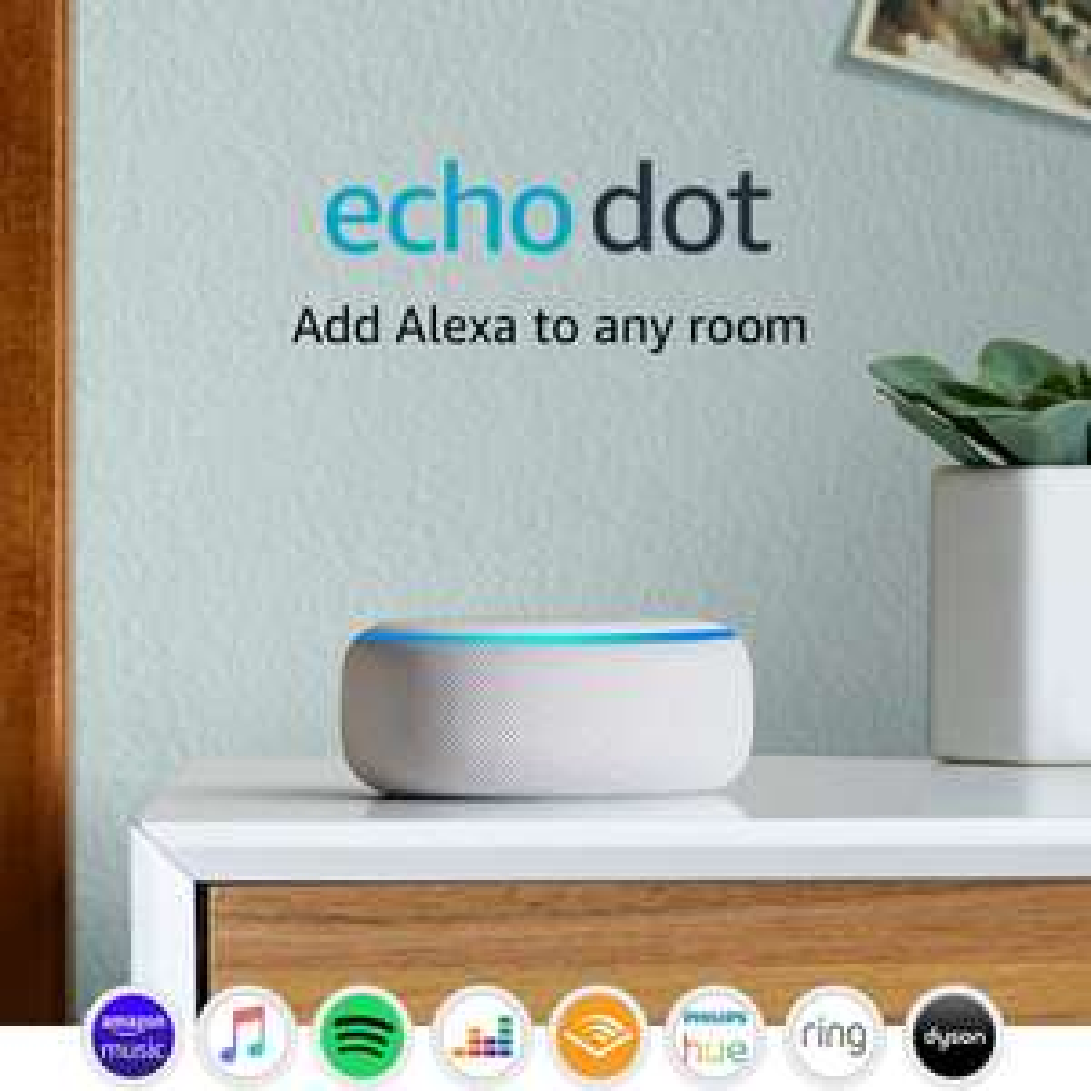 Amazon Echo Dot (3rd Gen) Smart Speaker with Alexa - White - £22.80 delivered @ AO / eBay
