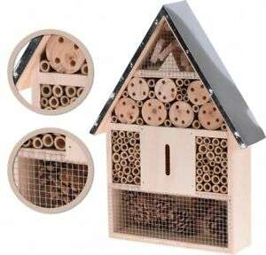 NEW Large/Medium Wooden Hanging Insect/Bug Hotel Metal Roof Bees Ladybirds House £12.95 @ eBay XSItems_ltd