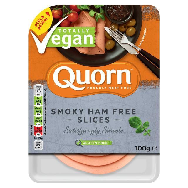 Quorn Vegan Chicken Free Slices 100g or Quorn Vegan Smoky Ham Free Slices 100g at sainsbury's - £1.25