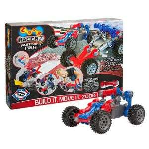 Zoob Racerz - Build it, Move it, Zoob it - 55 Pieces £14.99 + £2.99 Delivery @ Clearance Shed