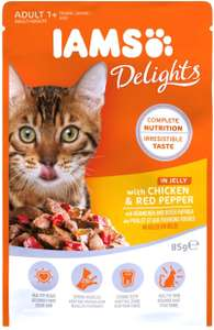 IAMS Delights Single Cat Food Pouch for Adult Cats only £0.50p @ Amazon Prime (+£3.99 non Prime)