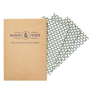 Set of 3 Reusable 35cm x 35cm Beeswax Food Wraps - £7.99 Delivered @ Roov