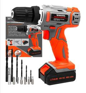 Terratek 13Pc Cordless Drill Driver 18V/20V-Max Lithium-Ion £32.99 Sold by Futura Direct Ltd and Fulfilled by Amazon