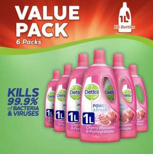 6x1L Dettol Multi Purpose Cleaner - £13.79 Prime // £18.28 Non Prime @ Amazon