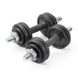 York 15kg Cast Iron Dumbbell Set £43.99 @ Sweatband - free delivery