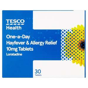Tesco own brand Loratadine Hayfever & Allergy 30 Tablets £2.75 in Tesco online or instore with a pharmacy