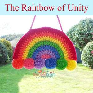 Free rainbow of unity crotchet pattern Kerry Jayne designs