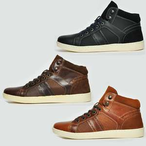 Manley Designer Real Leather Chukka Boots / Trainers - £16.99 + Free Delivery @ expresstrainers / eBay