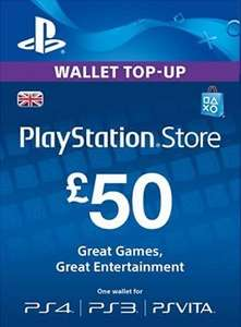 PlayStation Wallet Top Up £50 - £43.27 // £25 Top Up - £21.81 @ Electronic First