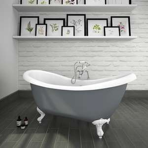 Earl Grey 1750 Double Ender Roll Top Slipper Bath w. Ball + Claw Leg Set £399.95 + £24.95 at Victorian Plumbing