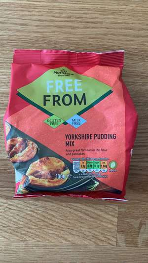 Morrison's gluten free Yorkshire pudding / pancake mix 15p at Morrisons