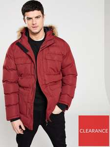 Trespass Red Baldwin Fur Hood Parka - £22.00 plus £3.99 delivery @ Very