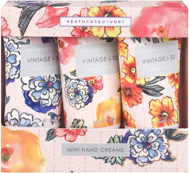Pack of 3 Vintage & Co Patterns and Petals Mini Hand Creams, 30 ml, £5 (Prime) £9.49 (Non Prime) @ Amazon