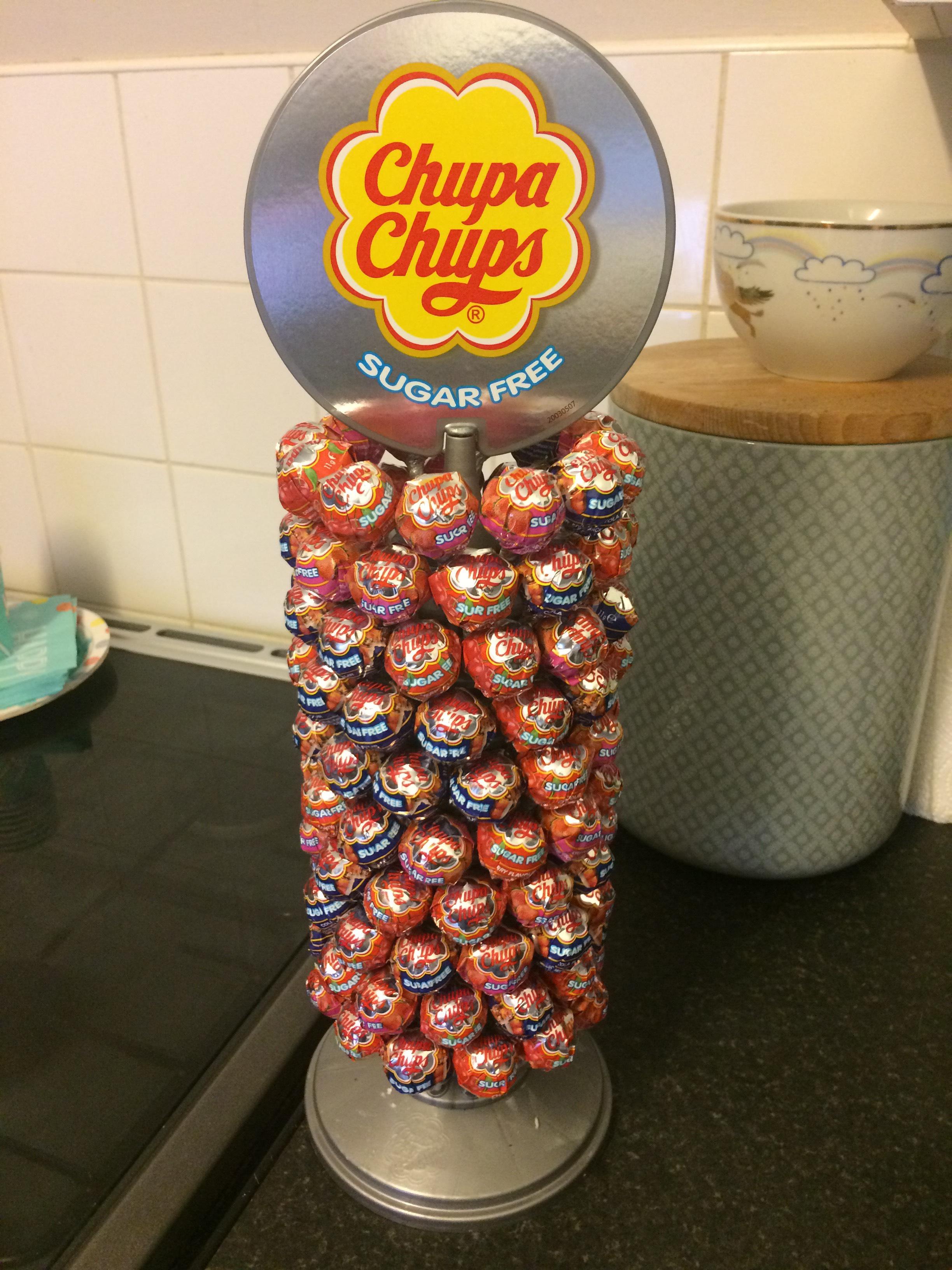 Chupa chups sugar free £9.99 at Home Bargains Essex