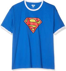 DC Comics Men's Superman Logo Ringer T-Shirt £4.61 @ Amazon Prime (+£4.49 non Prime)