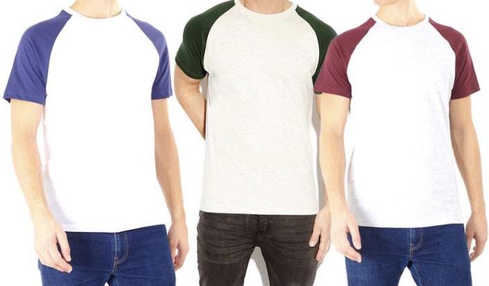 Men's Short Sleeve Raglan Tee £2.91 delivered @ Groupon