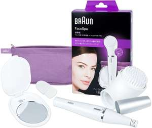 Braun FaceSpa 830 (Japan Edition) Facial Epilator/Facial Cleansing Brush Incl Mirror and Beauty Pouch £2 Like New @ Amazon Warehouse