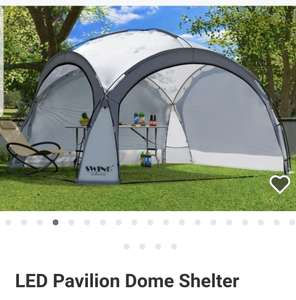 LED Pavilion Dome Shelter Featuring solar module and 96 LED lights £139.99 at Groupon