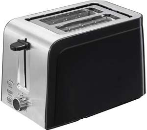 LOGIK L02TSS17 2-Slice Toaster - Black & Stainless Steel £11.99 delivered, using code @ Currys