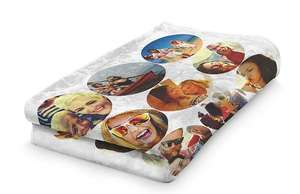 Collage Blanket 51cm x 63cm, Small for £9.99 with free shipping at PrinterPix