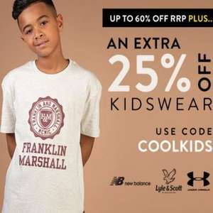 Extra 25% Off Kidswear at Get the label