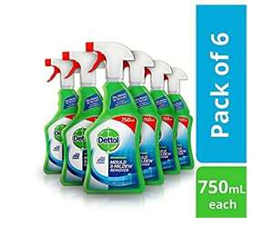Dettol Mould and Mildew Remover Spray, 750 ml, Pack Of 6 £20.76 @ Amazon