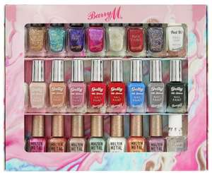 Barry M Cosmetics 10ml Nail Paint Gift Set x30 £29.99 + £3.95 delivery at Argos