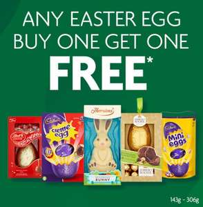 ALL Easter eggs BOGOF in Morrisons (instore) - All Easter eggs XL (£4) through to small (£1) including Thornton's, kinder etc