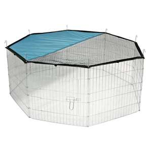 Outdoor Pet Playpen & Net   8 Panel Enclosure   For Small / Medium Pets £15.99 with free next day delivery using new account code @ Roov