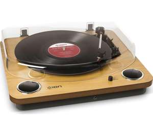 ION Max LP Belt Drive Turntable - Wood £59 delivered at Currys PC World
