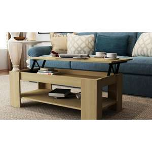 Lift Up Coffee Table in various for £53.99 delivered @ Big Furniture Warehouse