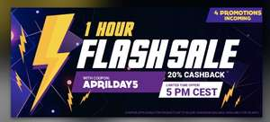 Flash Sale @ Gamivo 20% cash back using code