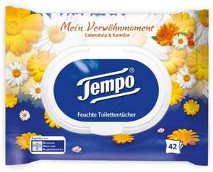 Tempo Moist Tissues My Pampering Moment: Calendula & Camomile 42 Wipes Moist Toilet Paper 16 Pack - £8.65 (Prime) / £13.14 (NP) @ Amazon