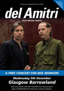 Del Amitri - Free concert for NHS frontline staff- 09/12/2020 - Glasgow Barrowland Ballroom - Tickets From 10/04 @ Ticketmaster