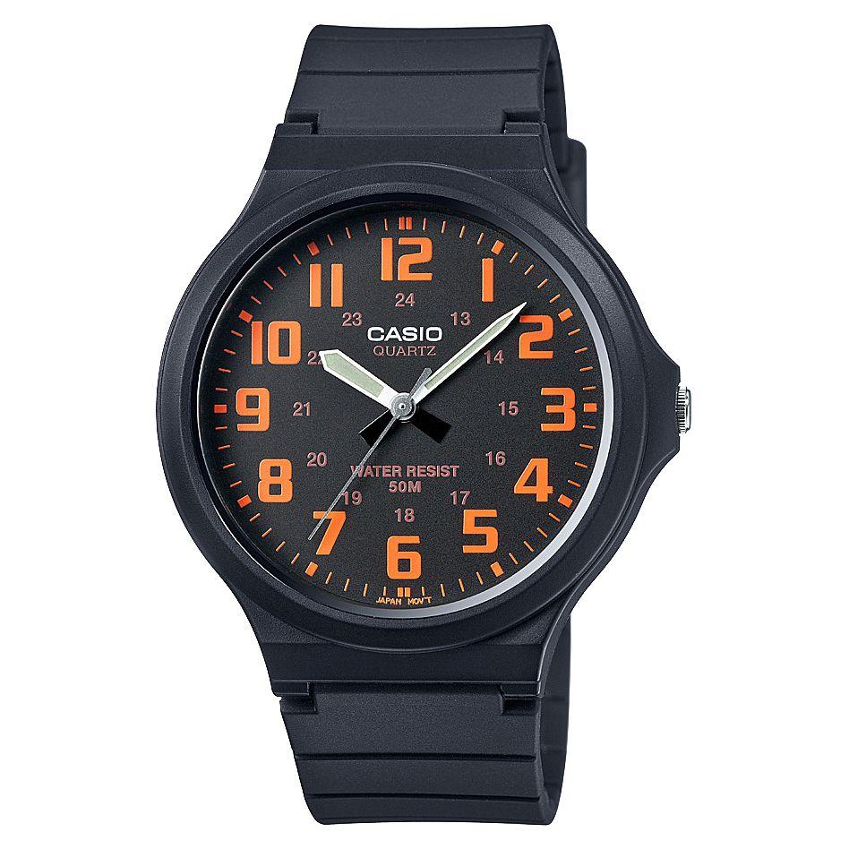 Casio Men's Black & Orange Dial Black Resin Strap Watch MV-240-4BVEF - £11.24 Delivered @ H Samuel