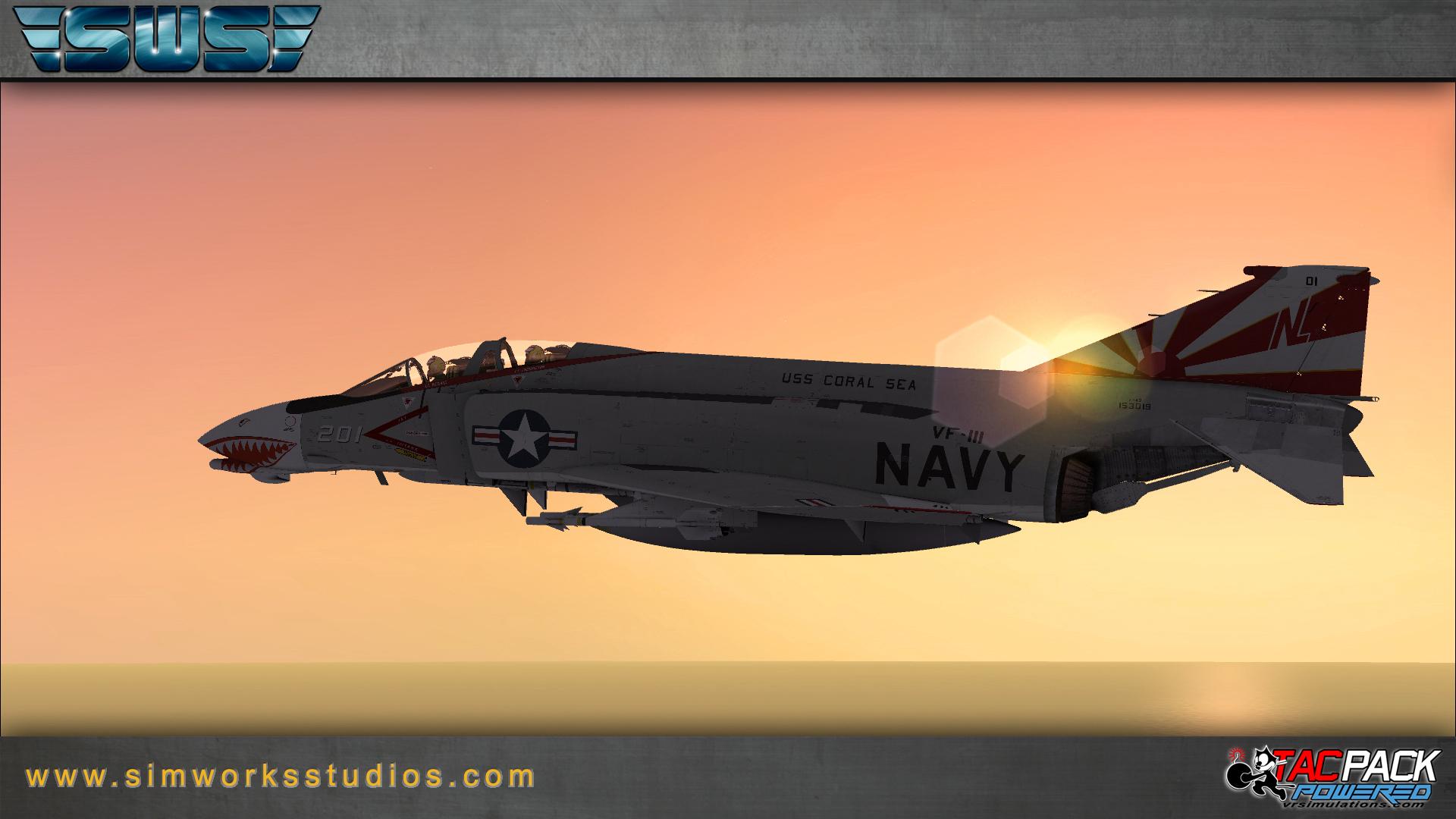 SIMWORKS - F-4B PHANTOM II FSX - P3D FREE till April 12th
