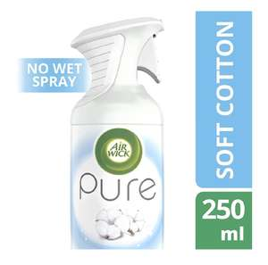 Air Wick 250 ml Soft Cotton Pure Air Freshener - Pack of 6 £9 @ Amazon (£7.65 with S&S /+£4.49 Non-prime)