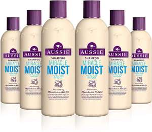 Aussie Miracle Moist Shampoo 300 ml - Pack of 6 £15.96 @ amazon (£15.16 via S&S / +£4.49 Non-prime)
