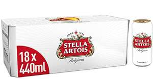 Stella Artois 18 440ml cans for £12 @ Amazon pantry / prime exclusive - minimum of £15 worth of Amazon Pantry items £3.99 del