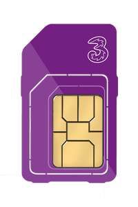 Three Sim Only - Unlimited Minutes and Texts, 8GB for £8pm (£48 cashback via redemption - effective £4pm - 12m) via Affordable Mobiles