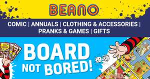 15% off @ Beano Shop with code + stacks with 10% off, free whoopee cushion & free p&p on £20+ spend (£3.99 delivery if under £20)
