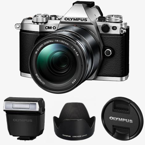 Olympus E‑M5 Mark II 1415 Camera Kit - Includes: 14-150mm Lens, Flash, Hood, Shoulder Strap & More - £599.99 Using Code @ Olympus