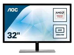 "AOC Q3279VWFD8 31.5"" QHD IPS WLED Gaming Monitor 75Hz 5ms (Refurbished) £159.99 electrical-deals.co.uk"