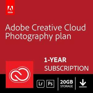 Further reduced - Adobe Creative Cloud Photography plan 20GB: Photoshop + Lightroom | 1 Year | PC/Mac | Download - £73.31 @ Amazon