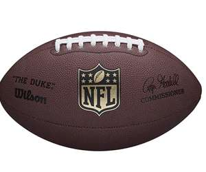 Wilson NFL Duke Replica Leather American Football - Official Size - £12.99 (Prime) £17.48 (non Prime) @ Amazon