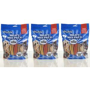 3 x Large Bags Drools Meaty Mix Tasty Dog Treats (Total 2.1Kg) £9.00 Including Delivery @ Yankee Bundles