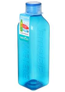 Sistema Square Water Bottle, 1 L - Assorted Colours - £3.50 (Prime) £7.99 (Non Prime) @ Amazon